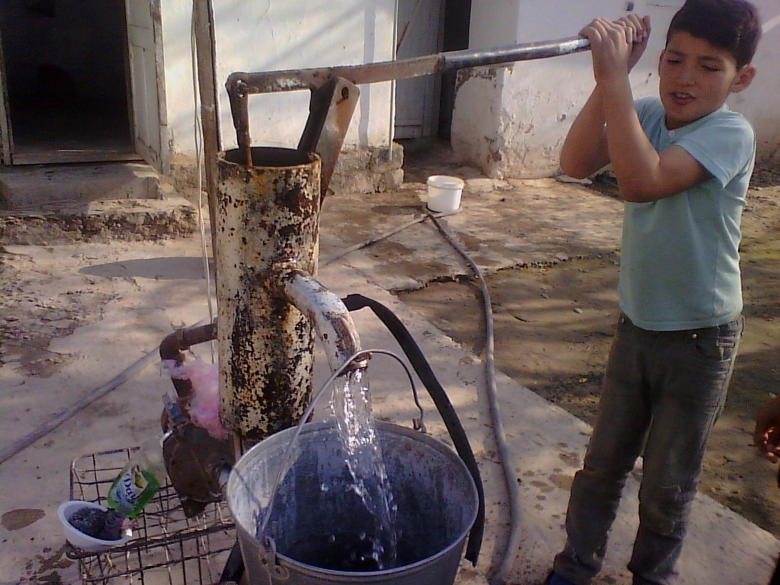 water pump in Tajikistan