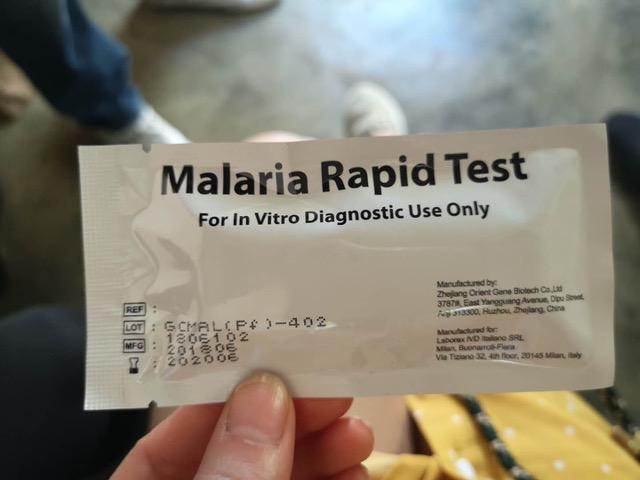 Malaria Rapid test that's widely used for testing malaria in Kenya