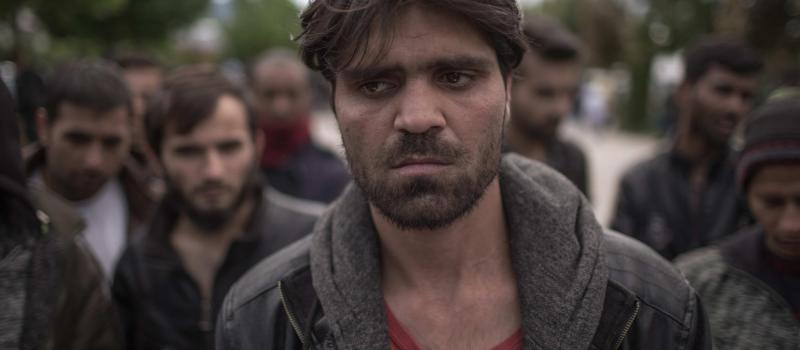 A migrant from Afghanistan in the camp Bira in Bihać, Bosnia and Herzegovina